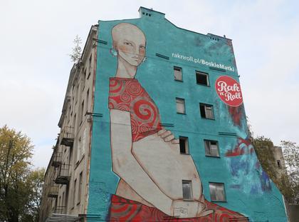 mural Boska Matka, fundacja Rak'n'roll