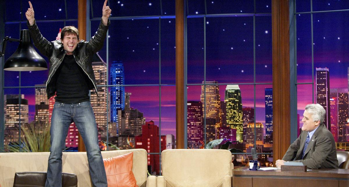 """Tom Cruise Visits """"The Tonight Show with Jay Leno"""" - June 8, 2005"""