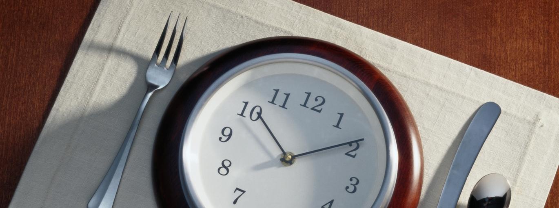 zegar dieta jedzenie obiad czas