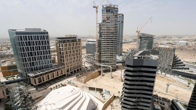FILE PHOTO: A view shows the King Abdullah Financial District north of Riyadh