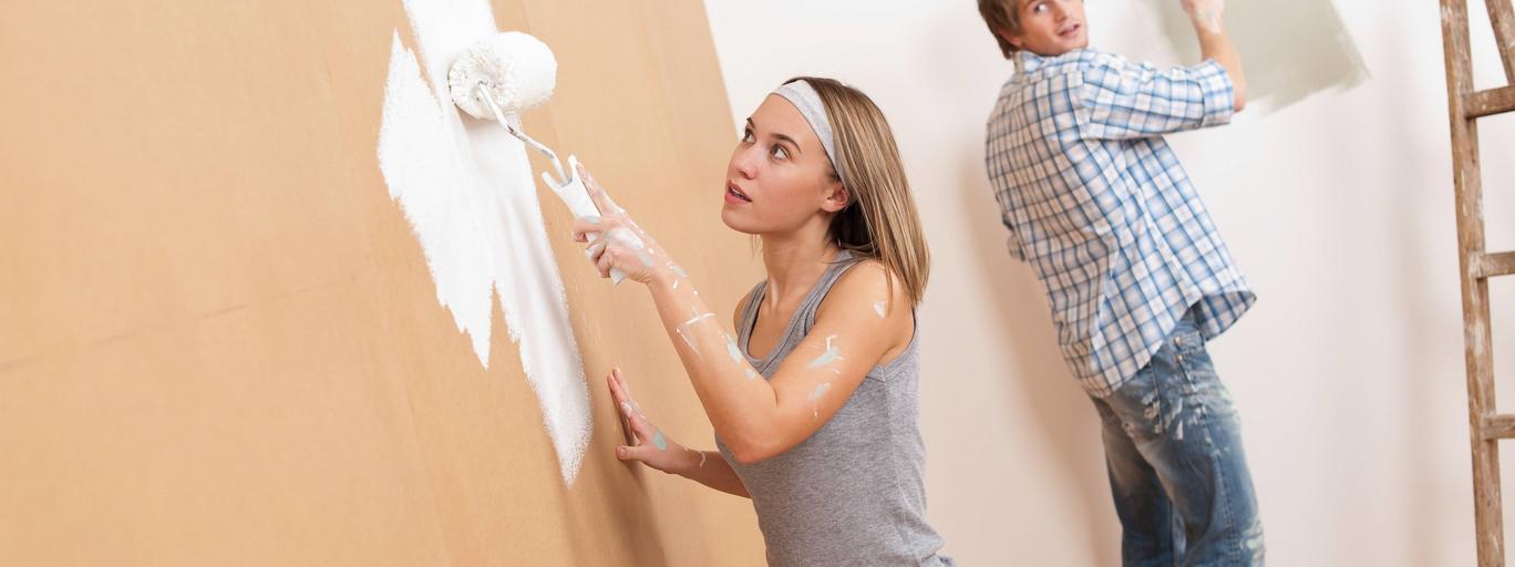 Malowanie farba wystrój wnętrz dom mieszkanie dekoracja wnętrz remont