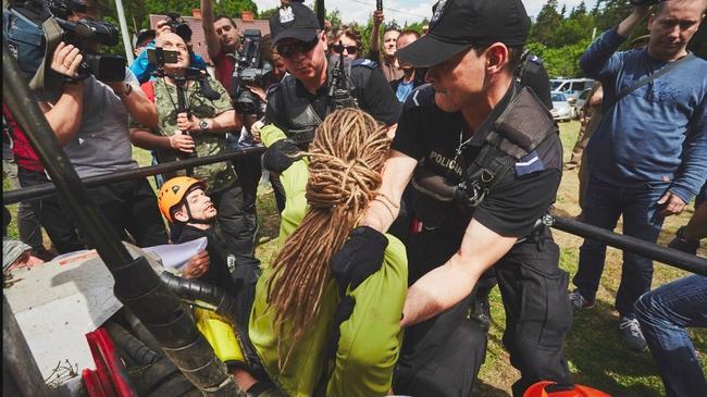 Blokada Greenpeace Puszcza Białowieska