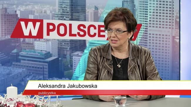 Aleksandra Jakubowska w studiu telewizji wPolsce.pl