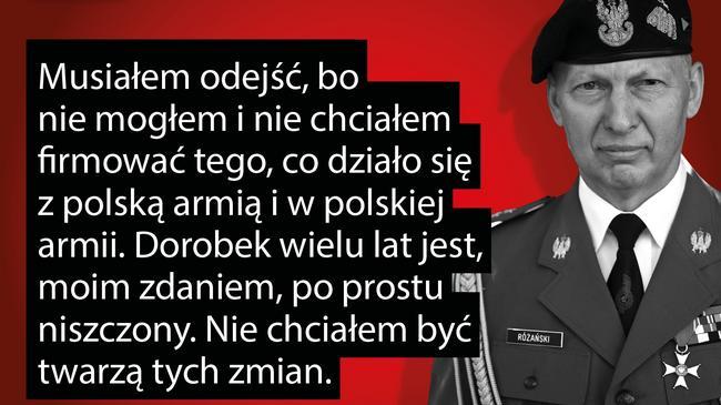 Mirosław Różański wojsko armia żołnierze MON Antoni Macierewicz