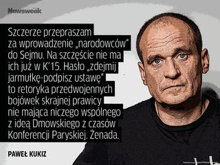 Kukiz przeprasza za narodowców, Kaczyński wygasza temat Smoleńska, USA rozczarowane Polską