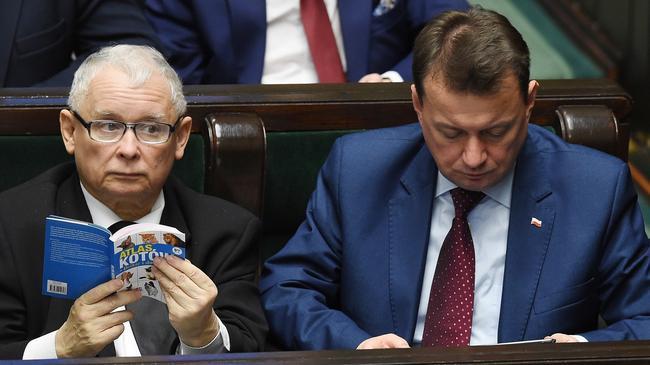 Jarosław Kaczyński Mariusz Błaszczak Sejm polityka PiS Prawo i Sprawiedliwość polityka
