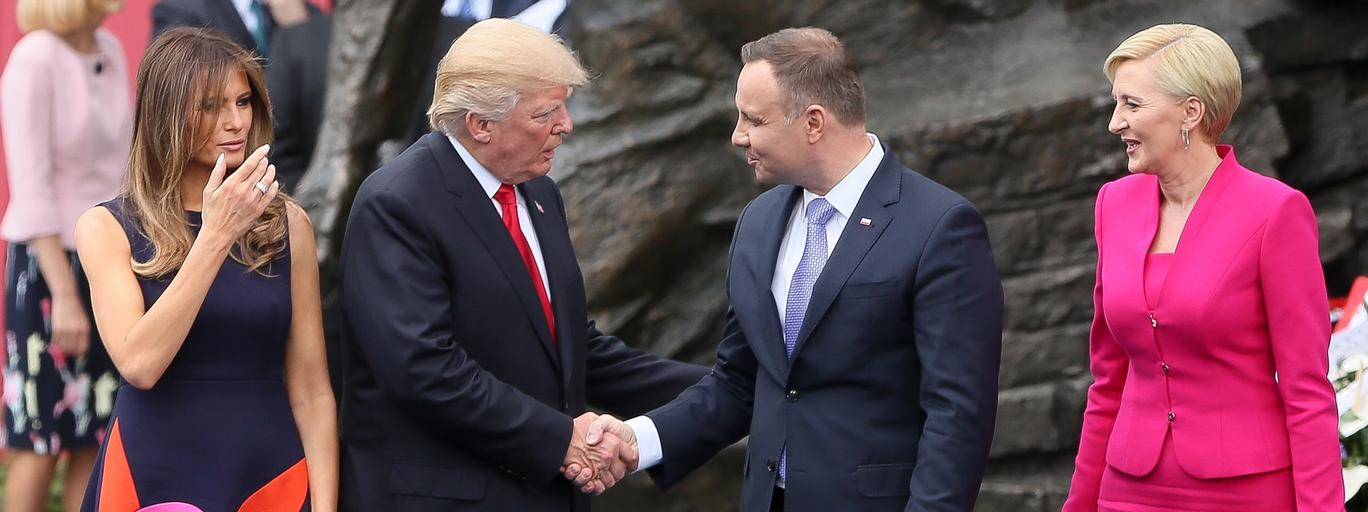 Donald Trump, Melania Trump, Andrzej Duda, Agata Kornhauser Duda