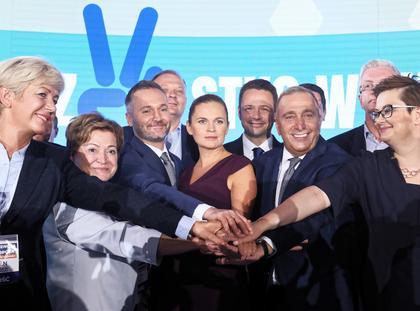 Grzegorz Schetyna, Katarzyna Lubnauer, Rafał Trzaskowski, Barbara Nowacka, Jarosław Wałęsa, Hanna Zdanowska
