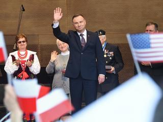 Para prezydencka podczas spotkania z Polonią