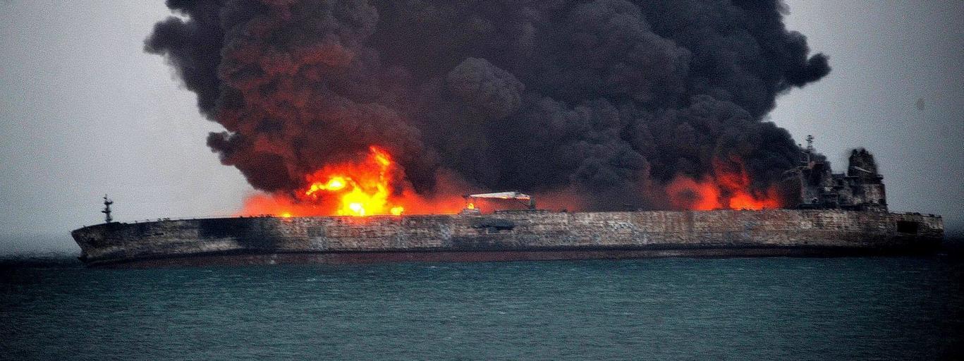 Sanchi tankowiec pożar