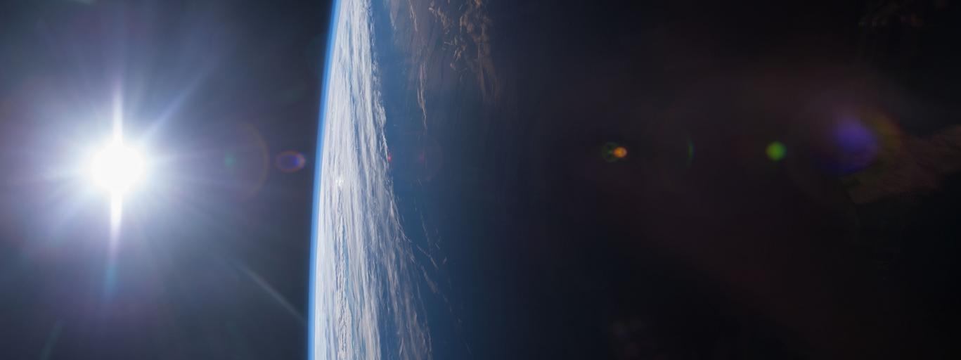 Stacja Kosmiczna zachód słońca kosmos