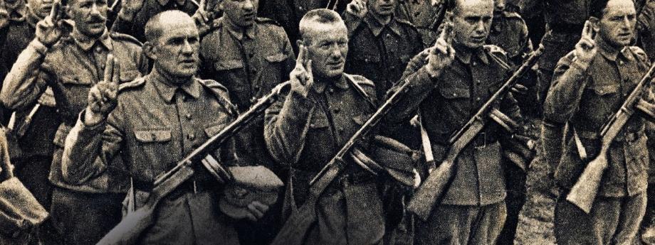 Przysięga żołnierzy IDywizji Piechoty im.Tadeusza Kościuszki,