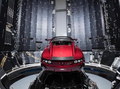SpaceX Elon Musk Tesla Roadster Falcon Heavy