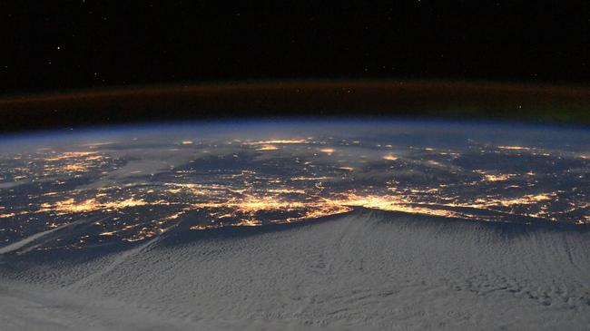 Good Night from the International Space Station