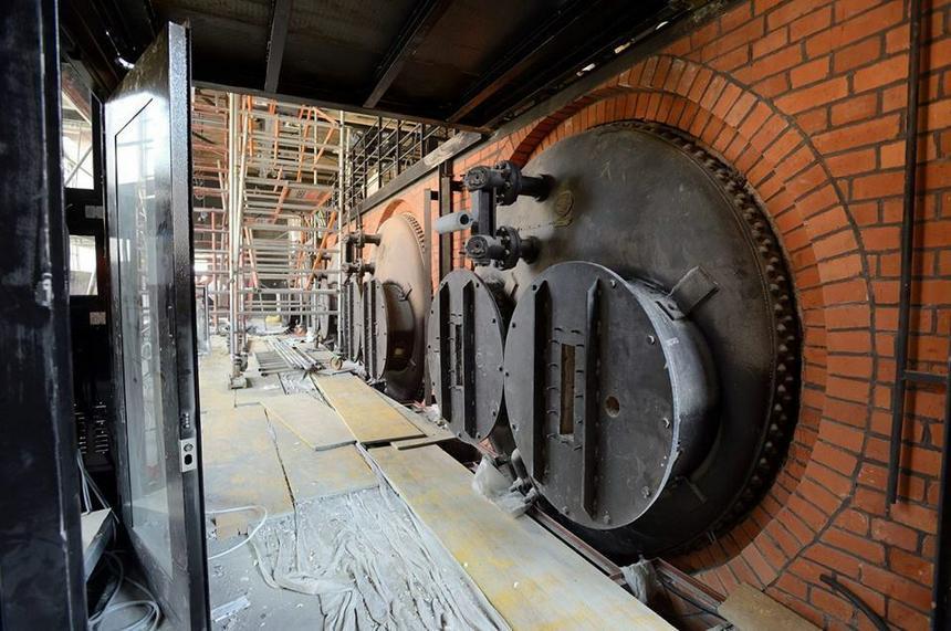 Prace w budynku Muzeum Polskiej Wódki