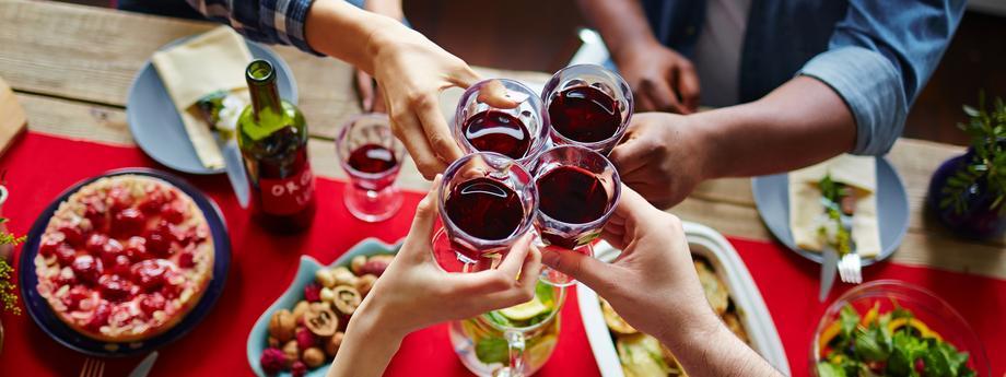 Czerwone wino alkohol
