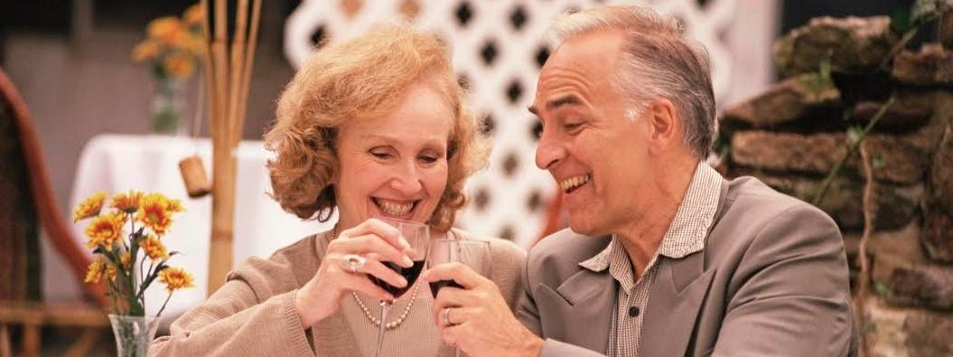 alkohol, małżeństwo, miłość, para, starość, starsi ludzie,