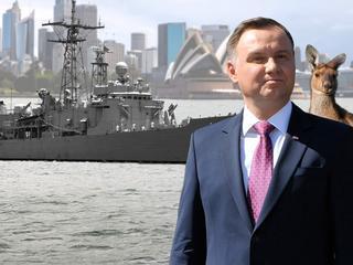 Prezydent w Australii. Niemal 40 osób leci kupować prawie 30-letnie okręty
