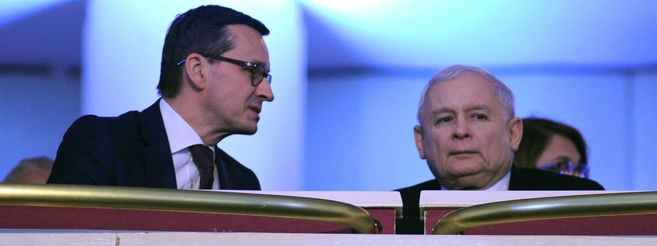 Jarosław Kaczyński Mateusz Morawiecki polityka Prawo i Sprawiedliwość PiS