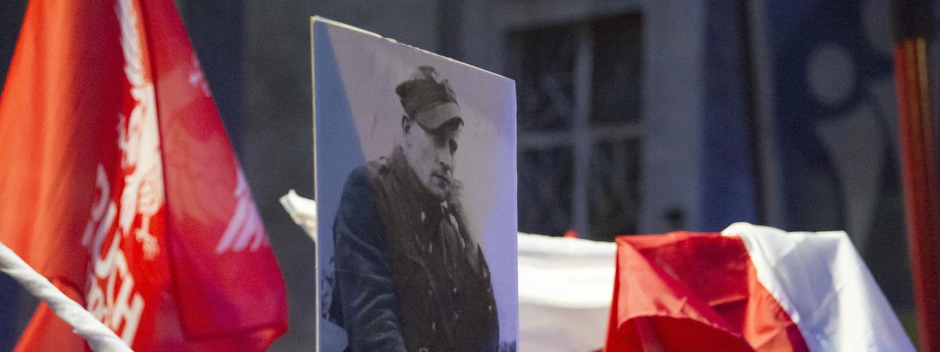 Gdyński Marsz Pamięci Żołnierzy Wyklętych zorganizowany przez ONR.