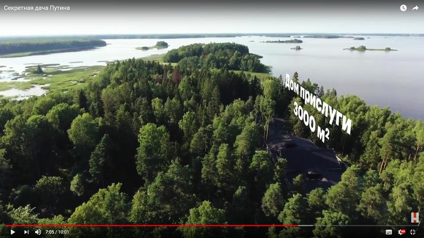 Screeny z wideo Aleksieja Nawalnego, materiał nagrany z drona