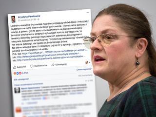 """""""Wyrzucić Pawłowicz z Facebooka!"""". Internauci chcą bana dla posłanki za wpis o 14-letnim Kacprze"""