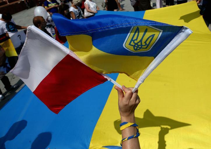 Ukraina flaga polska ukraina
