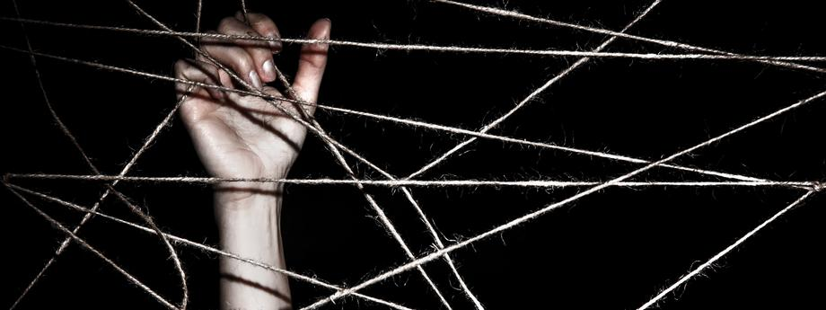 kłopot problem sznurki pułapka psychologia depresja