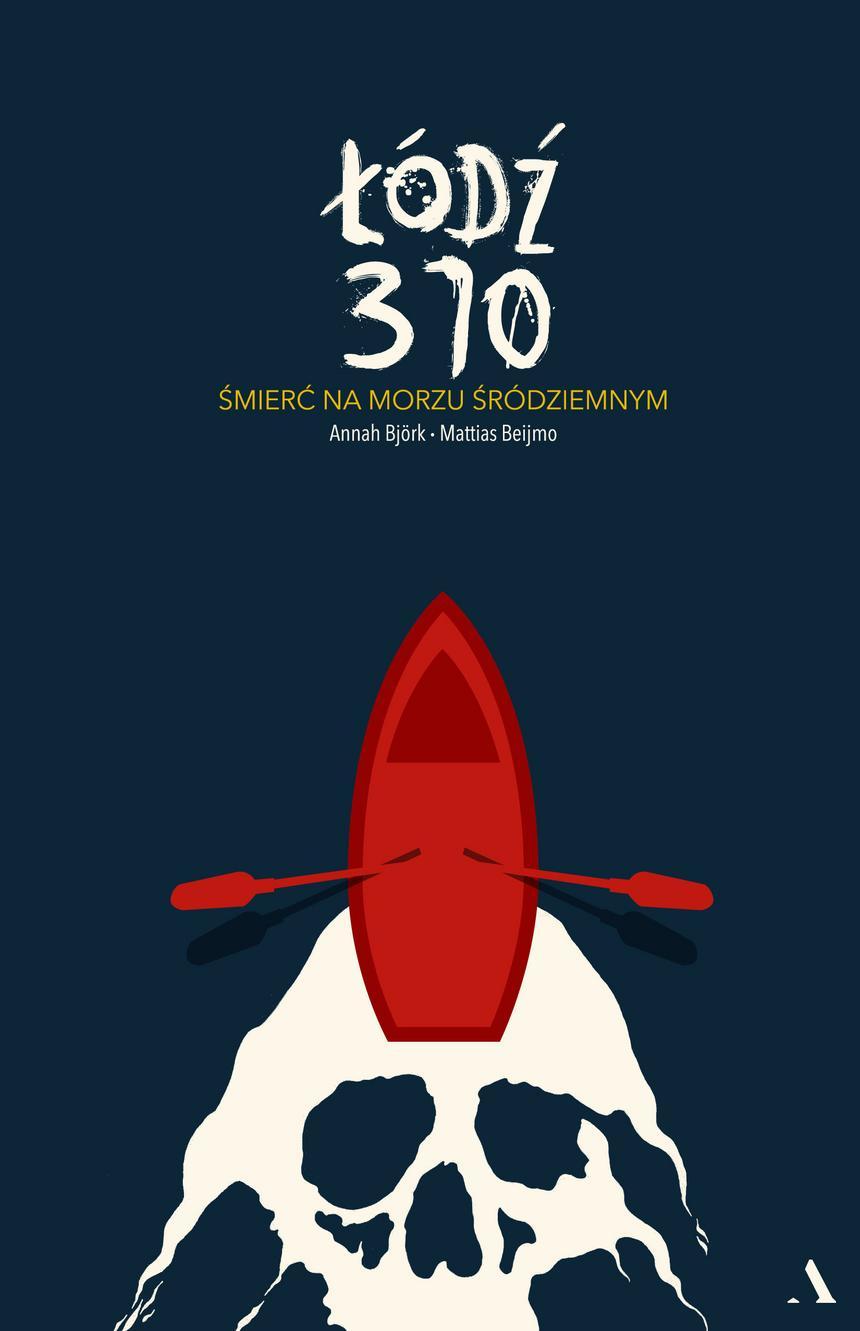 """Okładka książki Annah Björk i Mattiasa Beijmo """"Łódź 370"""", wyd. Agora."""