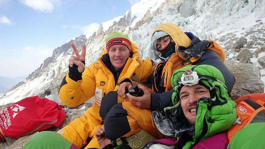 Denis Urubko, Elisabeth Revol i Adam Bielecki po brawurowej akcji ratowniczej na Nanga Parbat