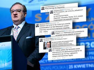 Saryusz-Wolski robi ze swojego rozstania z partią twitterowy show godny nastoletniego celebryty