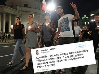 Na ulicach tysiące 20- i 30-latków. Ale wiceszef MSW i tak nie ma wątpliwości kim są: komuniści, esbecy, zdrajcy