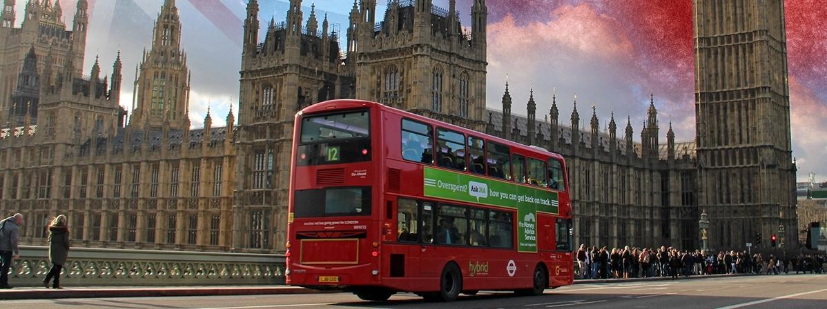 Londyn Wielka Brytania Anglia autobus Big Ben