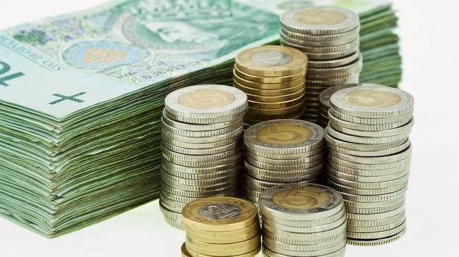 Pieniądze złotówki monety bilon banknoty