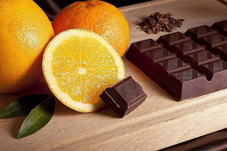 czekolada pomarańcze