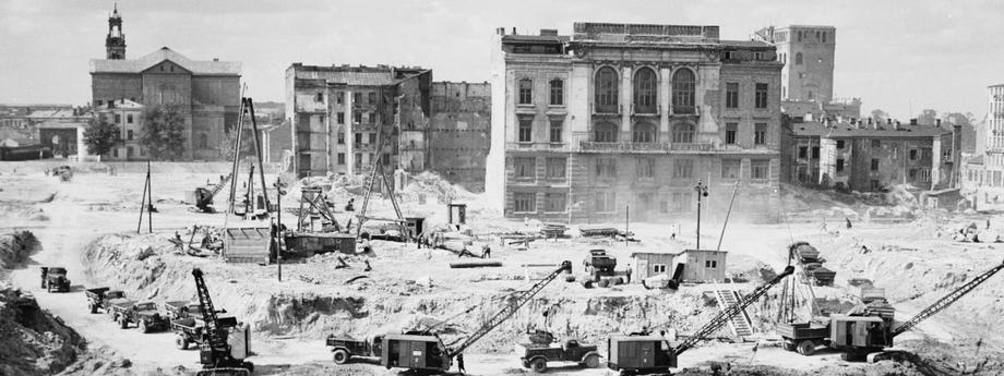budowa wykopy Pałac Kultury i Nauki