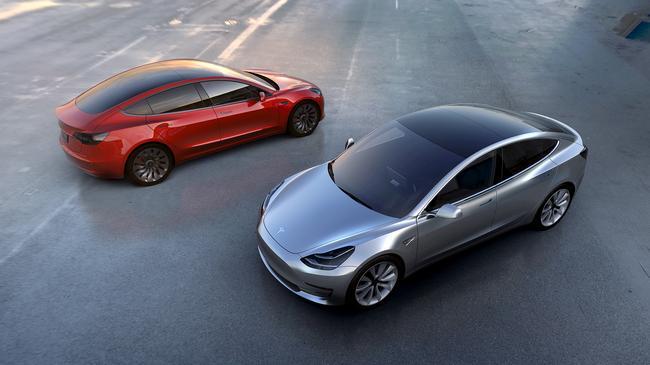 FILE PHOTO - Tesla Motors' mass-market Model 3 electric cars
