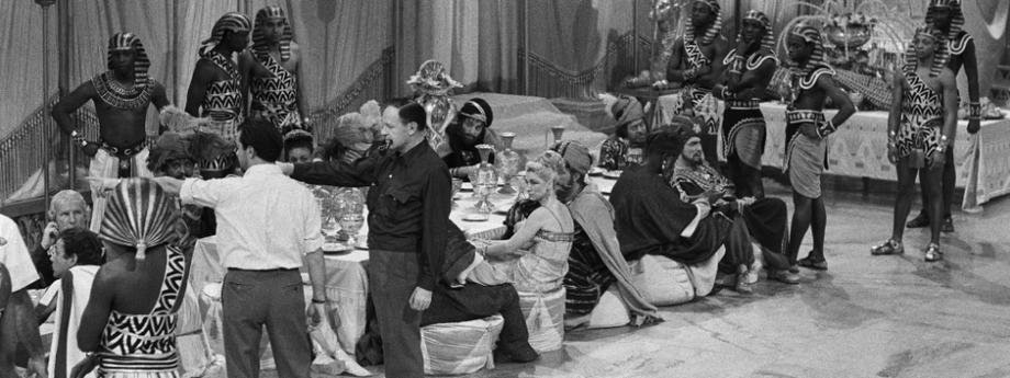 """Prace nad filmem """"Kleopatra"""" z1963r"""