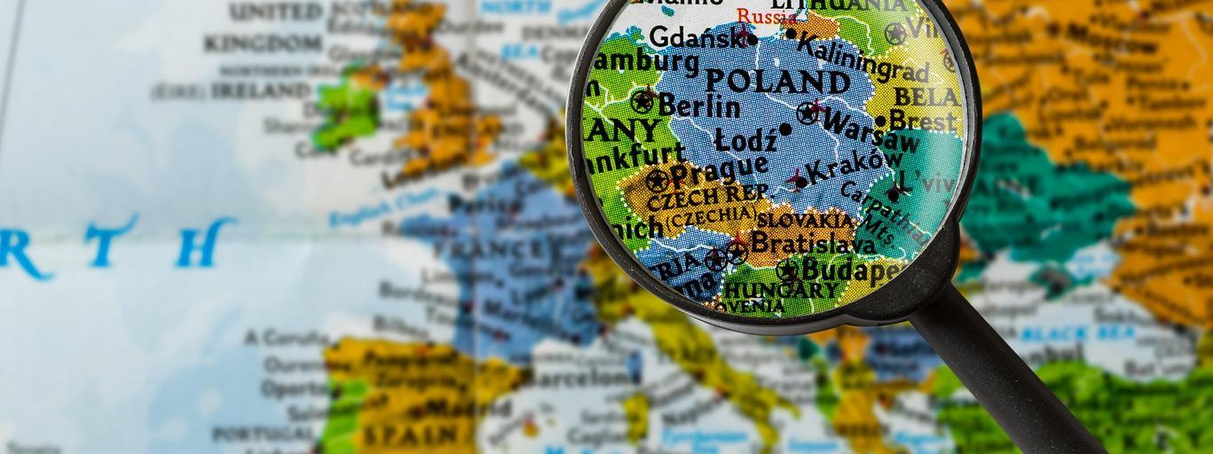 mapa, polska