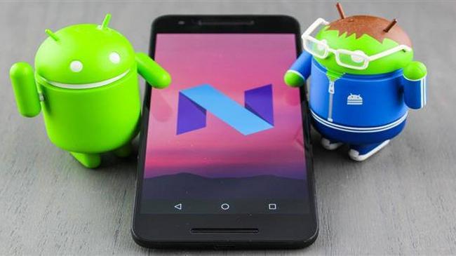 Android N Nougat telefon