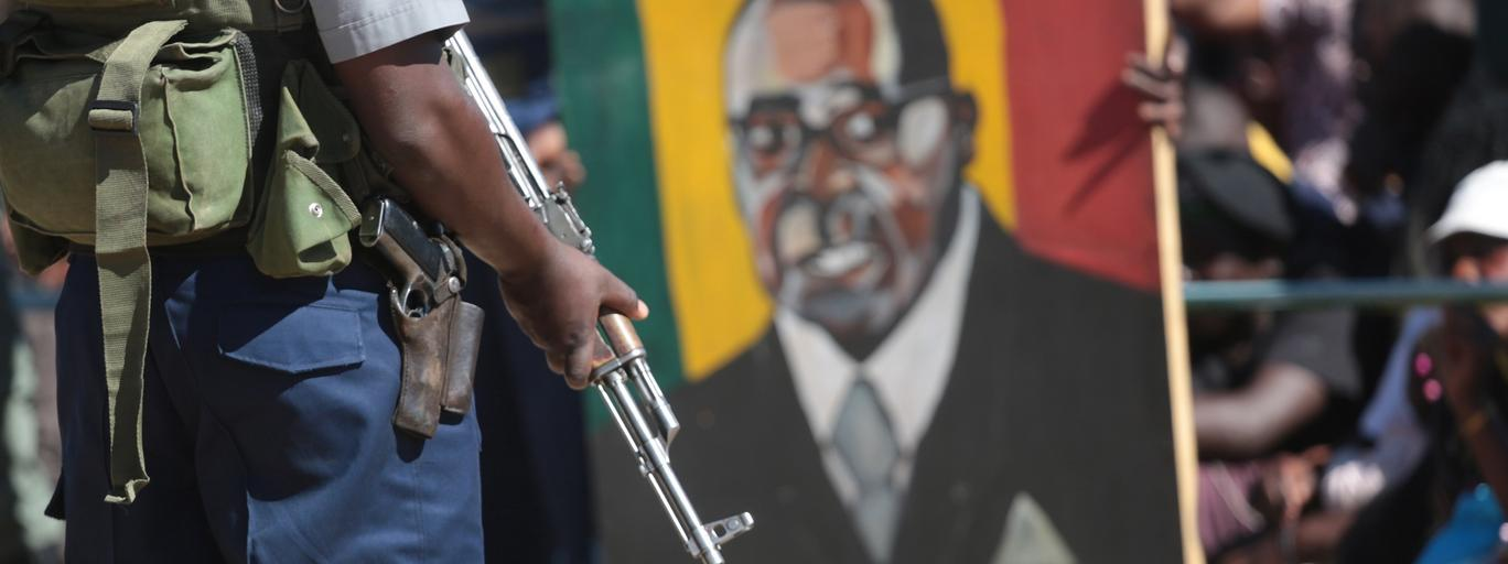 Zimbabwean President Robert Mugabe addresses youths in Marondera