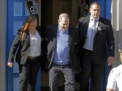 Harvey Weinstein charged in New York