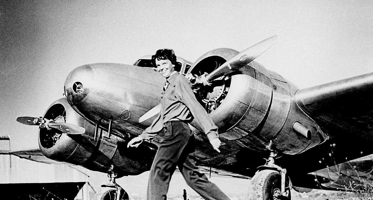 "Amelia Earhart and Lockheed ""Electra 10E"" NR16020, 1937."
