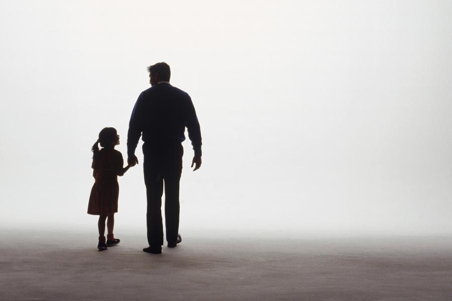 Ojciec, córka, relacja, rodzina