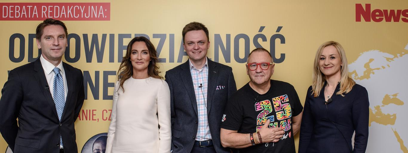 Tomasz Lis Dominika Kulczyk Szymon Hołownia Jurek Owsiak