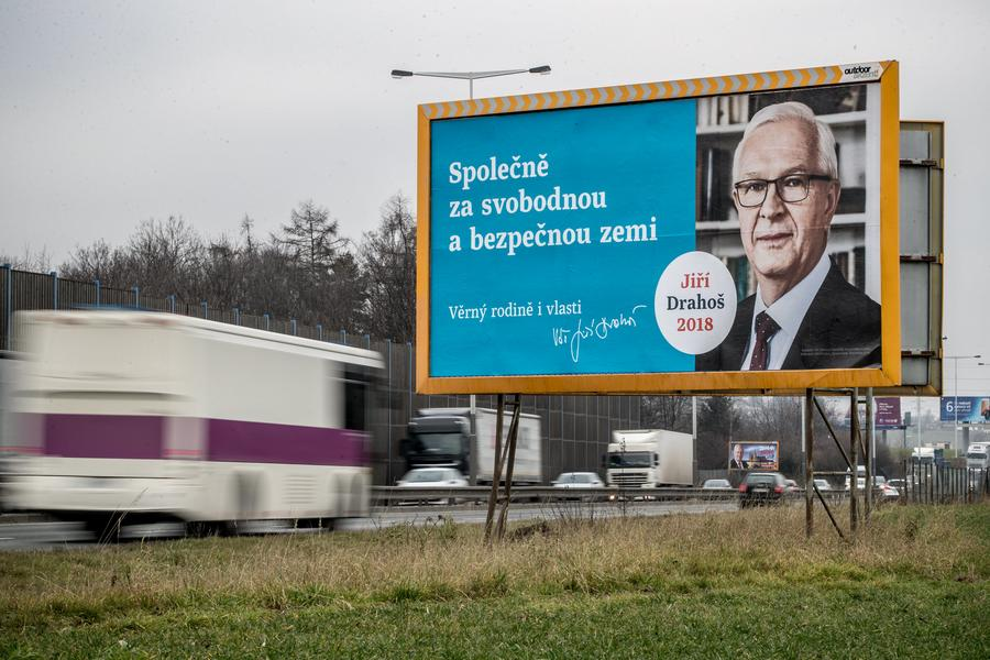 Czech presidential elections posters