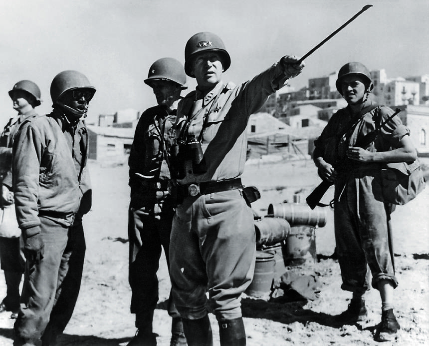Generał GEORGE PATTON, inwazja na Sycylii, lipiec 1943 r.