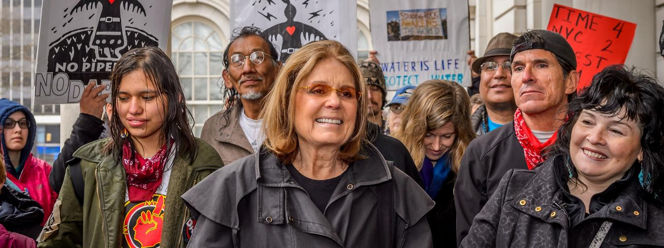 Gloria Steinem na Marszu Kobiet w Nowym Jorku