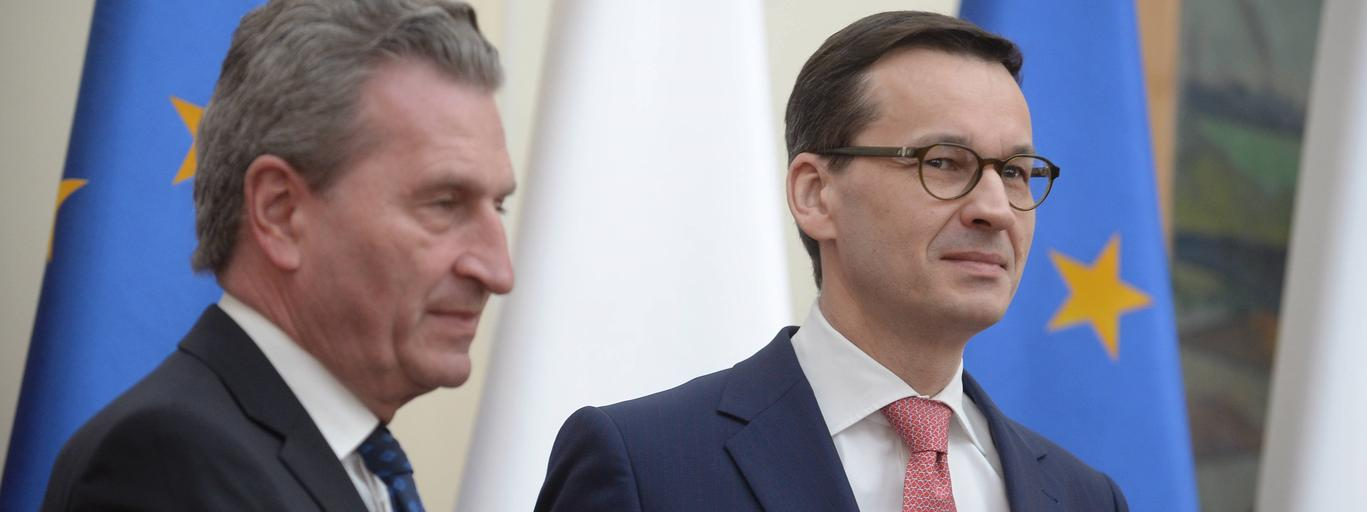 Mateusz Morawiecki, Guenther Oettinger