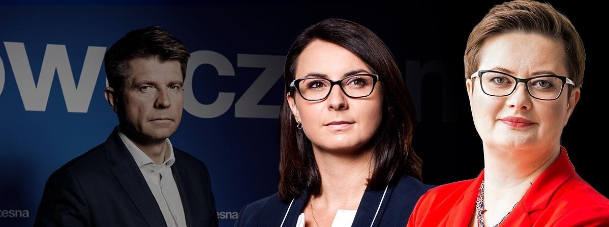Nowoczesna władza: Ryszard Petru, Kamila Gasiuk-Pihowicz, Katarzyna Lubnauer